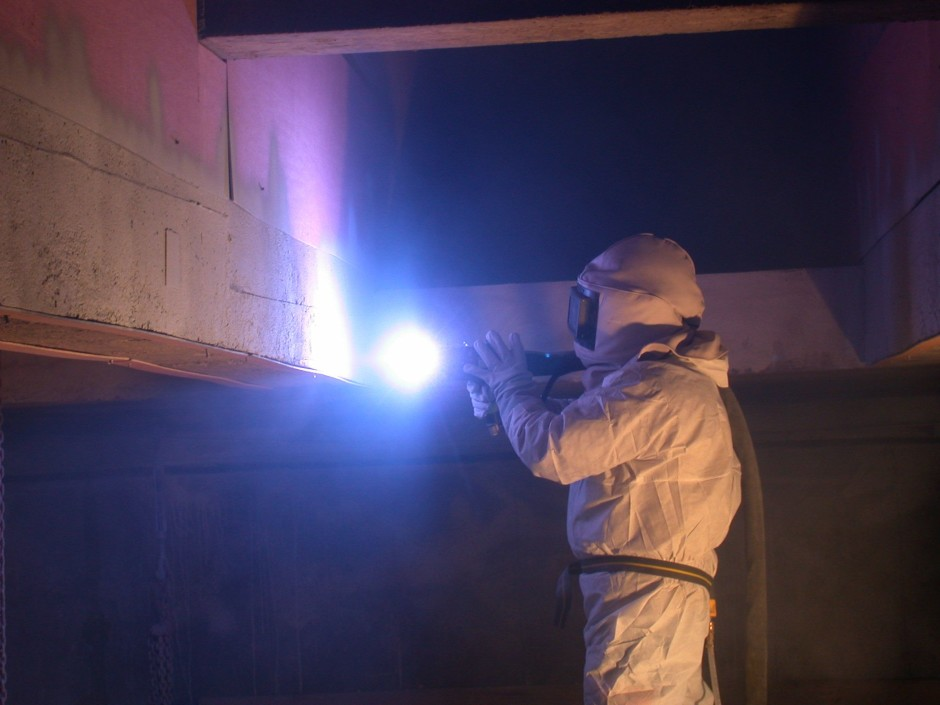 Zinc spraying of the c.a rods. deteriorated